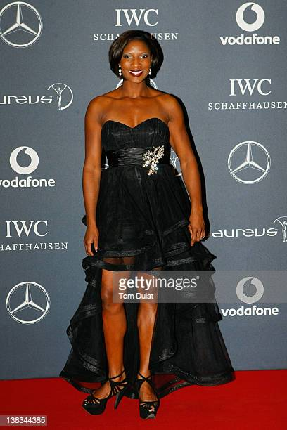 Athlete Denise Lewis attends the 2012 Laureus World Sports Awards at Central Hall Westminster on February 6 2012 in London England