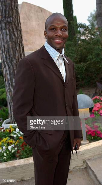 Athlete Donavan Bailey attends the Laureus Sport for Good Foundation Dinner and Auction at the Monte Carlo Sporting Club on May 19 2003 in Monaco