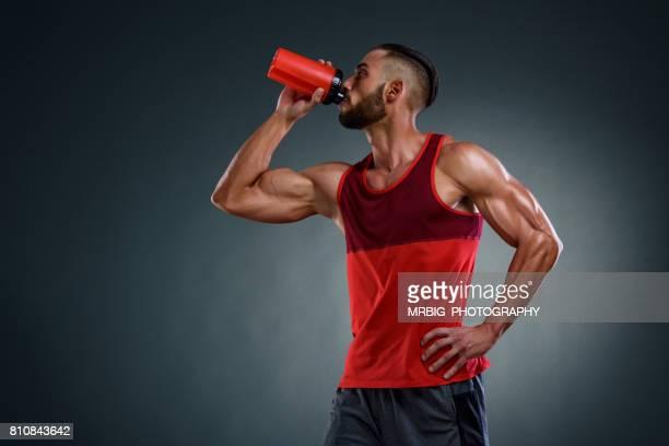 Athlete Drinks Protein Drink