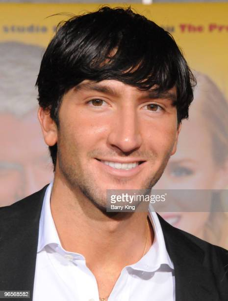 """Athlete Evan Lysacek arrives to the Los Angeles premiere of """"When In Rome"""" held at the El Capitan Theatre on January 27, 2010 in Hollywood,..."""