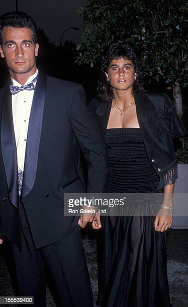 Athlete Gabriela Sabatini and brother attend Women International Tennis Association Awards Dinner Benefiting the March of Dimes on August 27 1990 at...