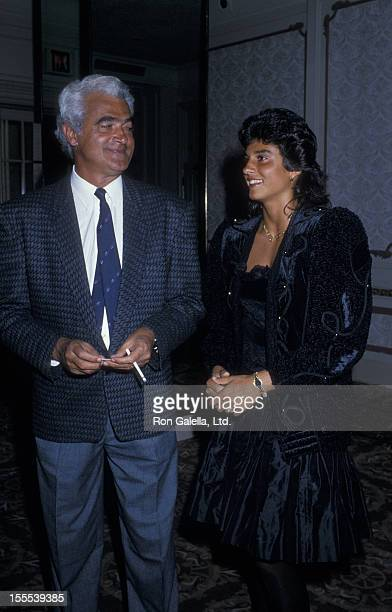 Athlete Gabriela Sabatini and father attend Women International Tennis Assocation Awards Dinner Benefiting the March of Dimes on August 29 1988 at...