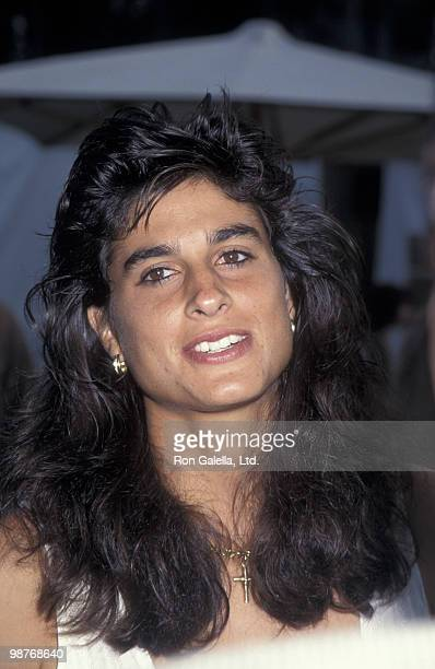 Athlete Gabriela Sabatini attends An Evening at the Net Benefit on July 31 1995 at UCLA Tennis Center in Westwood California
