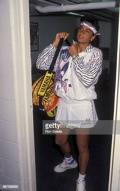 Athlete Gabriela Sabatini attends Arthur Ashe ProCelebrity Tennis Challenge Benefiting AIDS Research on August 28 1994 at Flushing Meadows Park in...