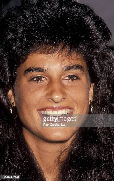 Athlete Gabriela Sabatini attends the party for Nicole Miller Official Tennis Blazer on November 4 1993 at the Nicole Miller Boutique in New York City
