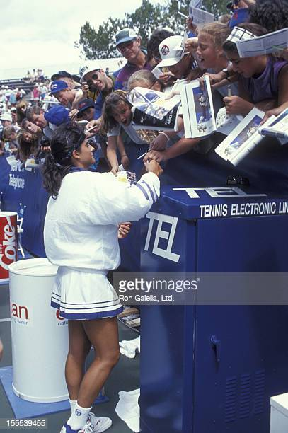 Athlete Gabriela Sabatini attends US Open Tennis Championship on September 2 1992 at Flushing Meadows Park in New York City