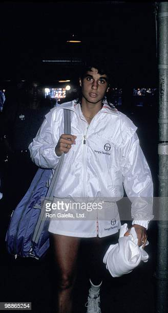 Athlete Gabriela Sabatini attends US Open Tennis Championship on September 3 1987 at Flushing Meadows Park in New York City