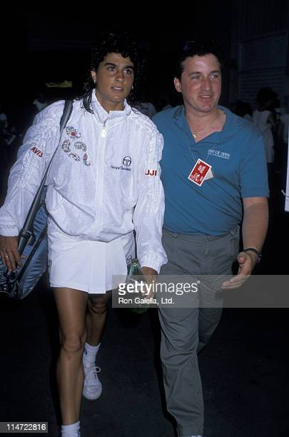 Athlete Gabriela Sabatini attends US Open Tennis Championship on September 6 1989 at Flushing Meadows Park in New York City