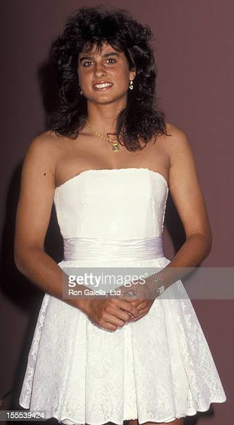 Athlete Gabriela Sabatini attends Women International Tennis Association Awards Dinner Benefiting the March of Dimes on August 26 1991 at the...
