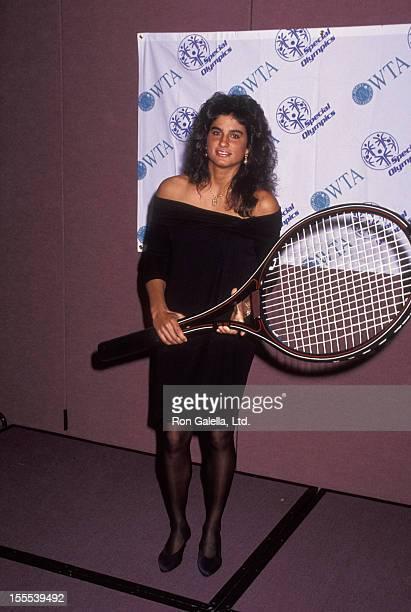 Athlete Gabriela Sabatini attends Women International Tennis Association Awards Dinner on August 31 1992 at the Marriott Marquis Hotel in New York...