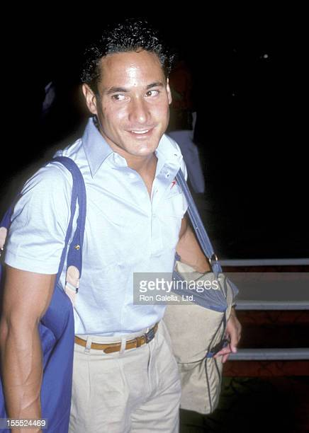 Athlete Greg Louganis attends the 21st Annual Jerry Lewis MDA Labor Day Telethon on September 1 1986 at Caesars Palace Hotel and Casino in Las Vegas...