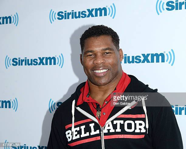 Athlete Herschel Walker visits at SiriusXM Studios on June 18 2015 in New York City