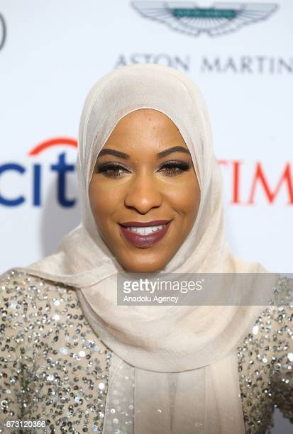 Athlete Ibtihaj Muhammad attends the 2017 TIME 100 Gala at Jazz at Lincoln Center in New York United States on April 25 2017