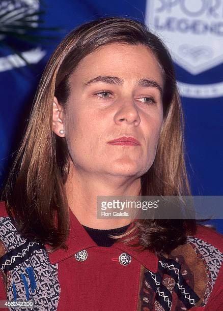 Athlete Ilana Kloss attends the Press Conference to Announce the Launch of Women's Sports Legends Inc on November 16 1995 at Madison Square Garden in...
