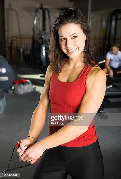 athlete in a health club gym - rich_legg stock photos and pictures