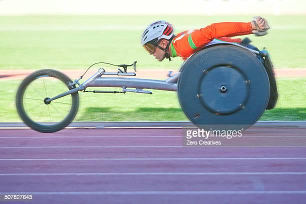 athlete in para-athletic competition - 障害者スポーツ ストックフォトと画像