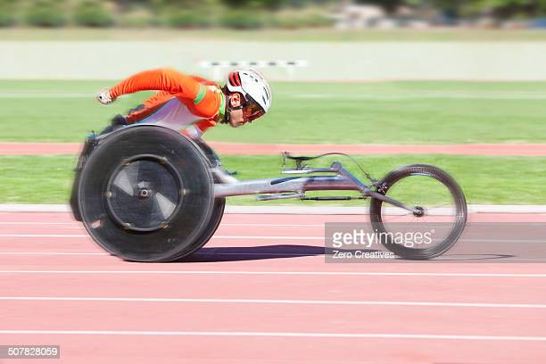 Athlete in para-athletic competition