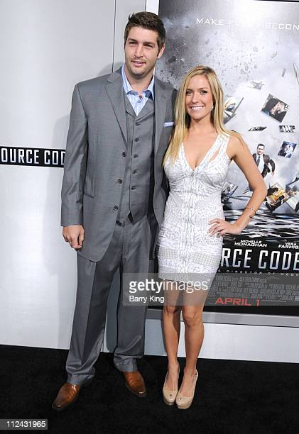 Athlete Jay Cutler and actress Kristin Cavallari arrive at the Los Angeles premiere of Source Code held at ArcLight Cinemas Cinerama Dome on March 28...