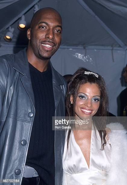Athlete John Salley and wife Natasha attend the 15th Annual Soul Train Music Awards on February 28 2001 at the Shrine Auditorium in Los Angeles...