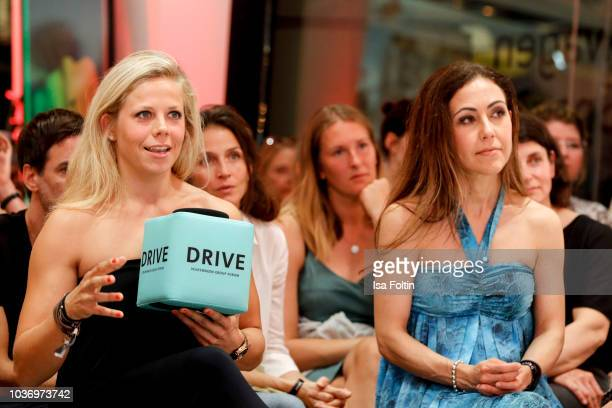 MMA athlete Julia Dorny and German presenter Anastasia Zampounidis during the discussion panel of Cliché Bashing 'I m perfect Take it easy Girl vs...
