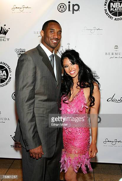 Athlete Kobe Bryant and wife Vanessa arrive at the 2007 NBPA All-Star Gala presented by Budweiser Select at the Mandalay Bay Events Center on...
