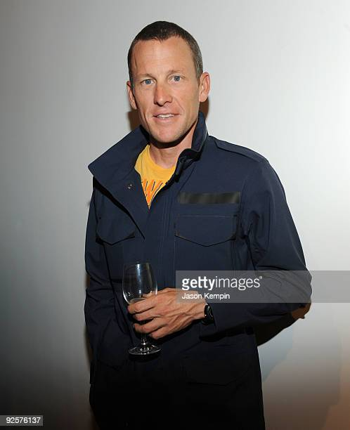 Athlete Lance Armstrong attends the Opening Reception of STAGES at Deitch Projects on October 30 2009 in New York New York