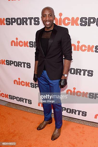 NBA athlete Langston Galloway attends NICKSPORTS special screening and party for Little Ballers Documentary at Chelsea Piers on February 14 2015 in...