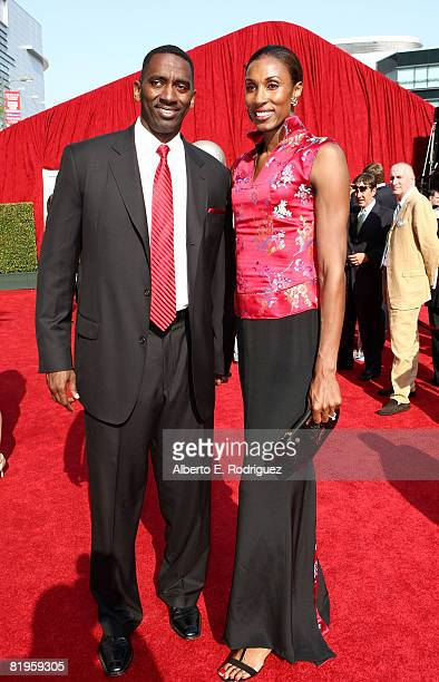 WNBA athlete Lisa Leslie and husband Michael Lockwood arrives at the 2008 ESPY Awards held at NOKIA Theatre LA LIVE on July 16 2008 in Los Angeles...