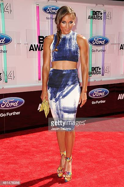Athlete Lolo Jones attends the 2014 BET Awards at Nokia Plaza LA LIVE on June 29 2014 in Los Angeles California