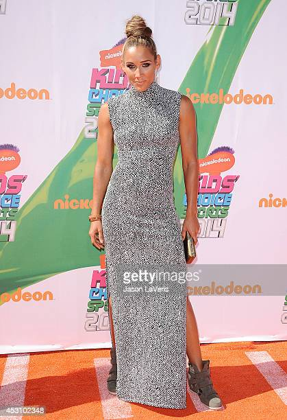 Athlete Lolo Jones attends the 2014 Nickelodeon Kids' Choice Sports Awards at Pauley Pavilion on July 17 2014 in Los Angeles California