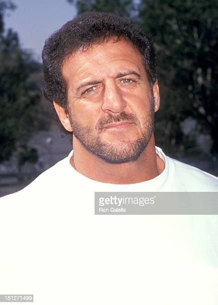 Athlete Lyle Alzado attends the 31st Annual Hollywood Stars Night Celebrity Baseball on August 26 1989 at Dodger Stadium in Los Angeles California