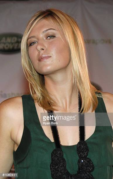 Athlete Maria Sharapova attends Jed Weinstein Presents 2007 US Open Champion Maria Sharapova and the All New 2008 Land Rover LR2 HSE at the Xchange...