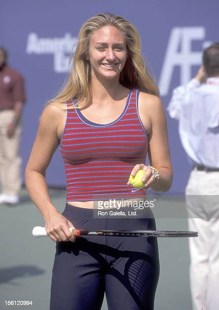 Athlete Mary Pierce attends the 1999 Arthur Ashe Kids Day on August 28 1999 at Flushing Meadows Park in Queens New York