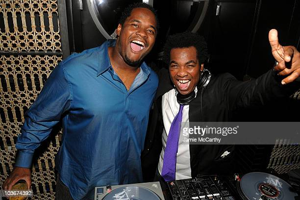 Athlete Melvin Fowler and DJ Reach attend the TAO and LAVO anniversary weekend held at LAVO in the Palazzo hotel on October 2 2009 in Las Vegas Nevada