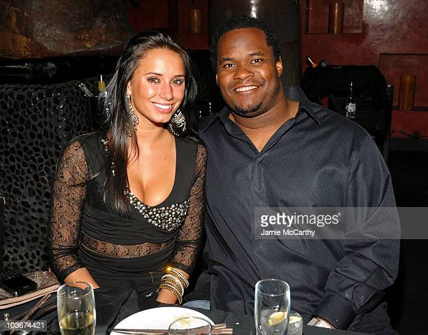 Athlete Melvin Fowler and guest attend the TAO and LAVO anniversary weekend held at TAO in the Venetian Resort Hotel Casino on October 3 2009 in Las...