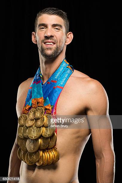 bc892384ea Athlete Michael Phelps poses with his Olympic medals 28 in all 23 gold for  Sports Illustrated