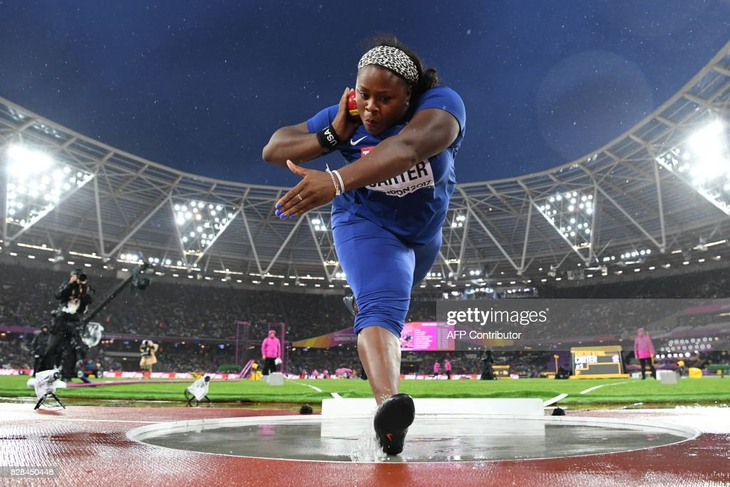 Michelle Carter Athlete >> Us Athlete Michelle Carter Competes In The Final Of The
