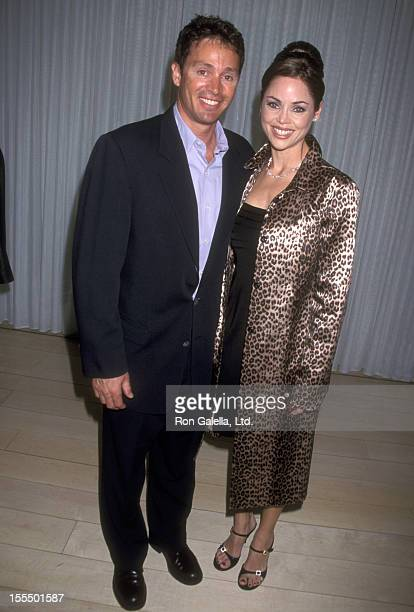 Athlete Mitch Gaylord and wife Deborah Driggs attend the Engagement Party for Liza Minnelli and David Gest on February 21 2002 at Le Mondrian Hotel...