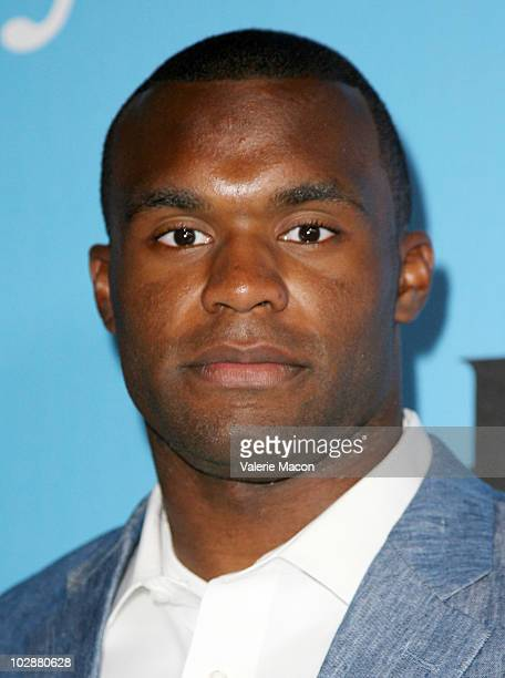 Athlete Myron Rolle arrives at the Fat Tuesday PreESPYs Party at Boulevard3 on July 13 2010 in Hollywood California