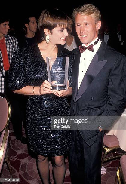 Athlete Nadia Comaneci and athlete Bart Conner attend the Women's Sports Foundation's 11th Annual Salute to Women in Sports on October 15, 1990 at...