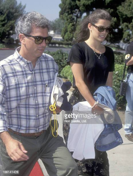 Athlete Nancy Kerrigan and guest Jerry Solomon attend the DARE Program Honors Nancy Kerrigan on June 30 1995 at The Great Western Forum in Inglewood...