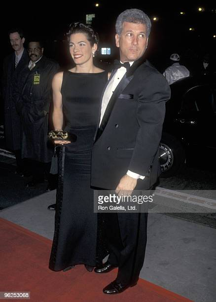 Athlete Nancy Kerrigan and husband Jerry Solomon attend the 75th Anniversary Celebration of Time Magazine on March 3 1998 at Radio City Music Hall in...