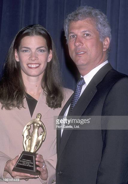Athlete Nancy Kerrigan and husband Jerry Solomon attend The National Mother's Day Council's 23rd Annual Oustanding Mother Awards Luncheon on April 12...