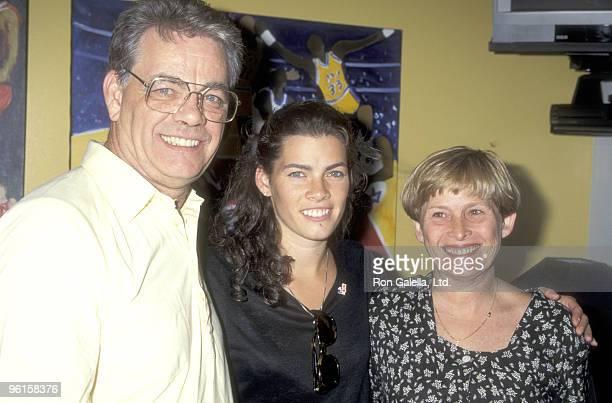 Athlete Nancy Kerrigan and parents Daniel Kerrigan and Brenda Kerrigan attend the D.A.R.E. Program Honors Nancy Kerrigan on June 30, 1995 at The...