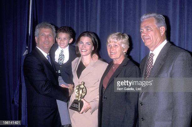 Athlete Nancy Kerrigan husband Jerry Solomon son Matthew Solomon mother Brenda Kerrigan and father Daniel Kerrigan attend The National Mother's Day...