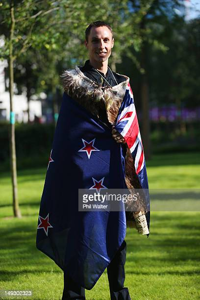 Athlete Nick Willis is announced as the flag bearer for the New Zealand Olympic team at the Olympic Village on July 26, 2012 in London, England.