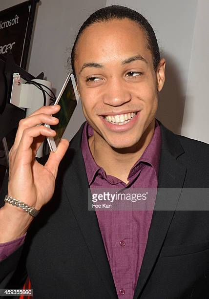 Athlete Pascal Martinot Lagarde attend the Acer Pop Up Store Launch Party at Les Halles on November 20, 2014 in Paris, France.