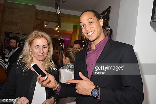Athlete Pascal Martinot Lagarde attends the Acer Pop Up Store Launch Party at Les Halles on November 20, 2014 in Paris, France.