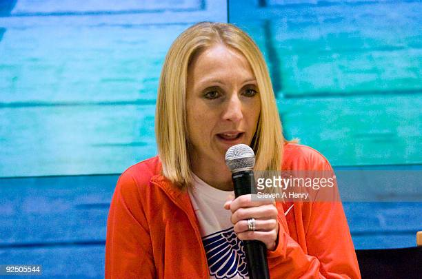Athlete Paula Radcliffe visit NikeTown on October 29 2009 in New York City