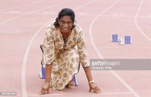 Athlete Pilavullakandi Thekkeparambil Usha or PT Usha during an exclusive interview with Hindustan Times on May 10 2017 in New Delhi India On a visit...